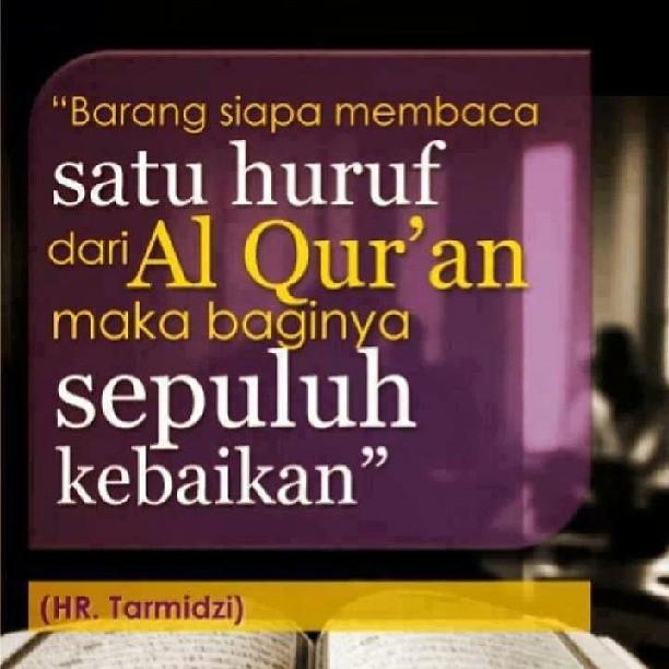 Baca quran satu huruf