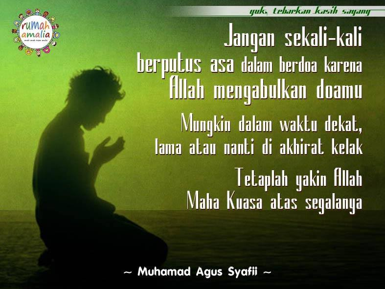 Berdoa jangan putus asa