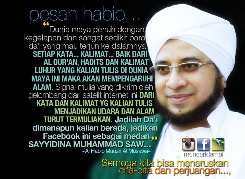 Face book pesan Habib Munzir alm