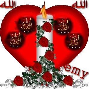 Allah rose merah
