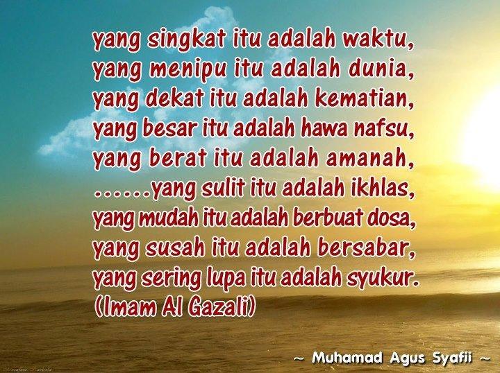 14 Nasehat Imam Al Ghazali By Fendiardha Nge Blog Yu