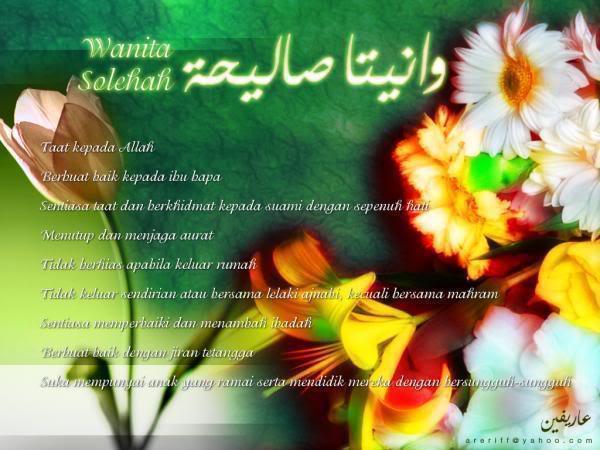 Wanita sholehah taat pada Allah